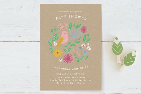 Baby Bird Baby Shower Invitations