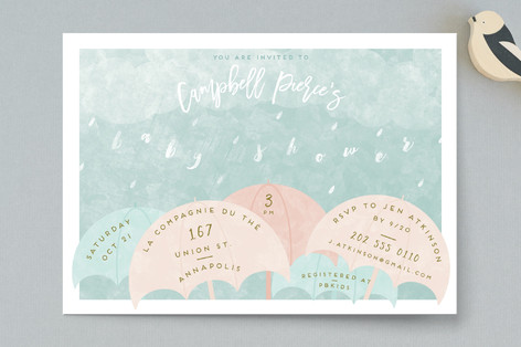 Rain Baby Shower Invitations