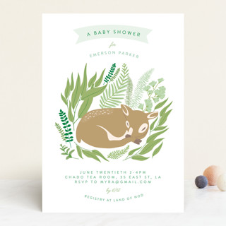 Forest Fawn Baby Shower Invitations