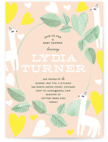 This is a green baby shower invitation by Baumbirdy called Mama Llama with standard printing on signature in standard.
