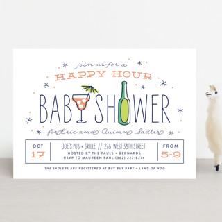 happy hour Baby Shower Invitations