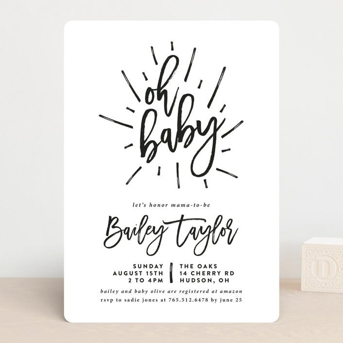 Oh Baby Customizable Baby Shower Invitations By Christine Taylor
