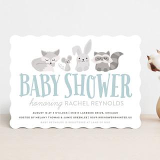 Woodland Buddies Baby Shower Invitations