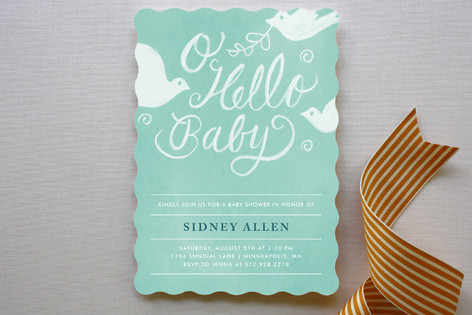 matthiola baby shower invitations by moglea minted