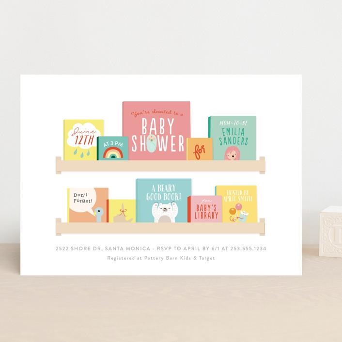 Modern Book Shelf Baby Shower