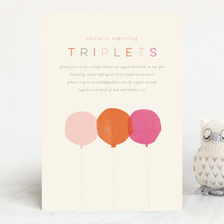 Triplets baby shower invitations by lori wemple minted triplets baby shower invitations filmwisefo