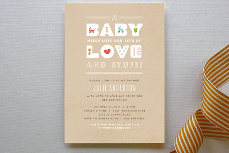 Baby Essentials Baby Shower Invitations