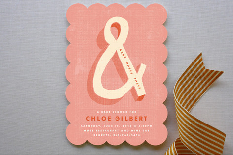 Bold Ampersand Baby Shower Invitations