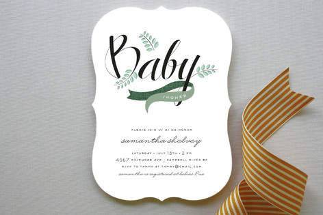 Windy Day Baby Shower Invitations