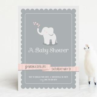 baby elephant baby shower invitations by lori wemp  minted, Baby shower