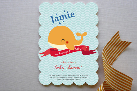 Havin' A Whale Of A Time Baby Shower Invitations