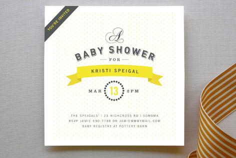 Bon Vivant Baby Shower Invitations