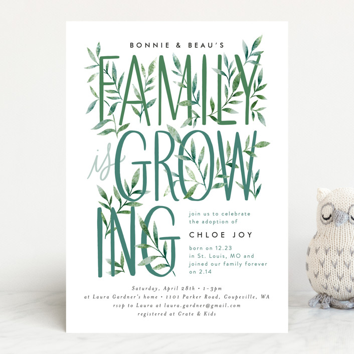 """""""Growing Family"""" - Baby Shower Invitations in Forest by Alethea and Ruth."""
