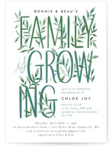 This is a green baby shower invitation by Alethea and Ruth called Growing Family with standard printing on signature in standard.