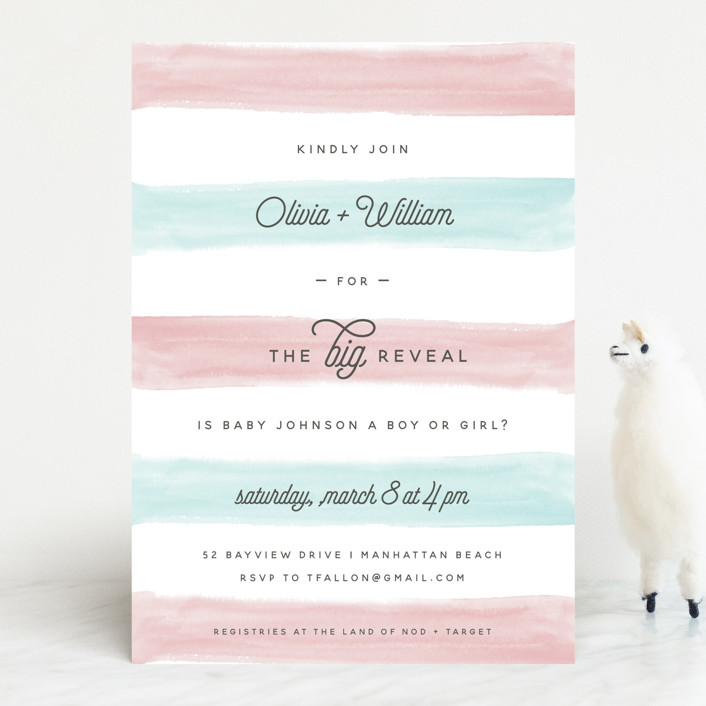 """Cotton Candy"" - Baby Shower Invitations in Blush by Shirley Lin Schneider."