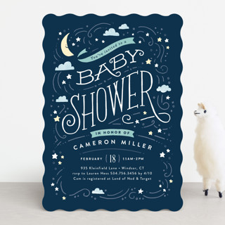 Moon and stars baby shower invitations by jennifer minted moon and stars baby shower invitations filmwisefo