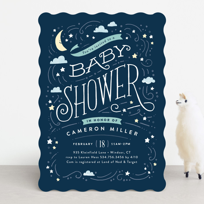 Moon And Stars Baby Shower Invitations By Jennifer Wick Minted