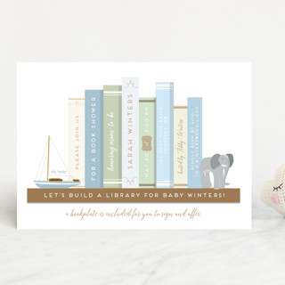 Little library baby shower invitations by heather minted little library baby shower invitations filmwisefo