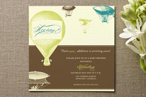 Hooray! Baby Shower Invitations