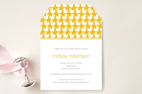 Ducky Baby Shower Invitations