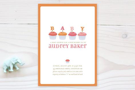 Cupcake Baby Shower Invitations