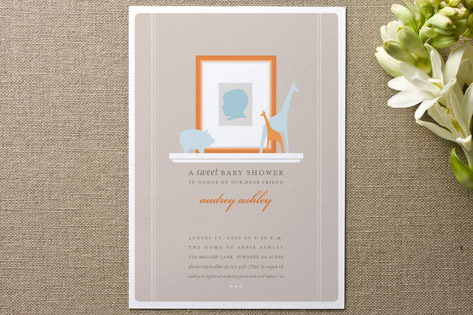 Baby silhouette baby shower invitations by pottsde minted baby silhouette baby shower invitations filmwisefo