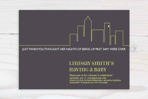 Party at my crib Baby Shower Invitations