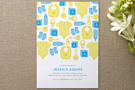 Showering Icons Baby Shower Invitations