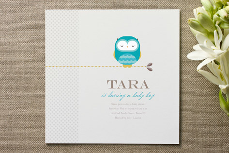 Whoooo's Expecting Baby Shower Invitations