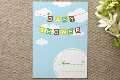 Blueskies Baby Shower Invitations