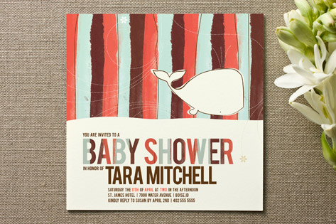 Whale Tale Baby Shower Invitations