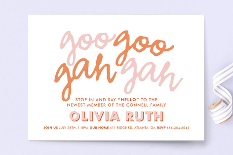 Goo Goo Baby Shower Invitations