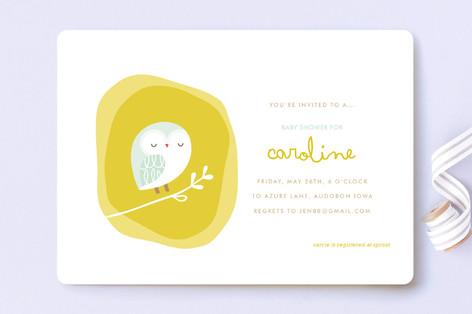 Woodland Nest Baby Shower Invitations