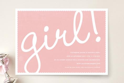 Girl! Baby Shower Invitations