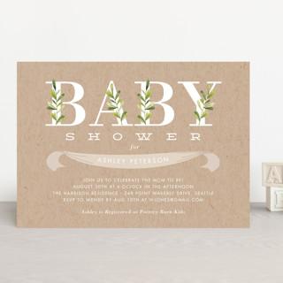 Botanical Baby Shower Invitations