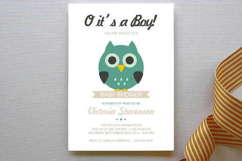 O it's a Boy! Baby Shower Invitations