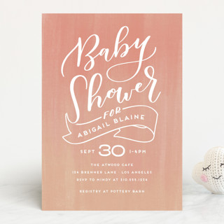 Sherbet Baby Shower Invitations