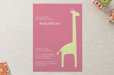 dotty the giraffe Baby Shower Invitations
