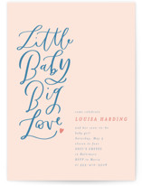 This is a pink baby shower invitation by Erin L. Wilson called Little Baby, Big Love with standard printing on signature in standard.