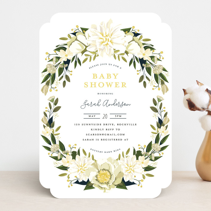 """Garden Shower"" - Baby Shower Invitations in Petal by Susan Moyal."