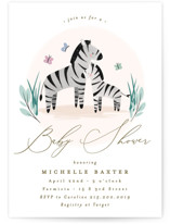 This is a brown baby shower invitation by Everett Paper Goods called Zebra Baby with standard printing on signature in standard.