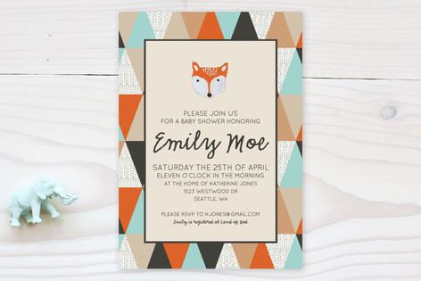 Fox Geometric Baby Shower Invitations By Tara Gran Minted
