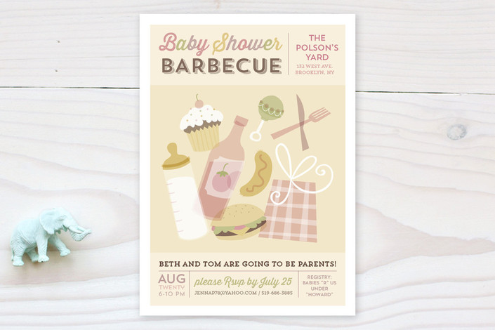 barbecue baby baby shower invitations by danielle minted