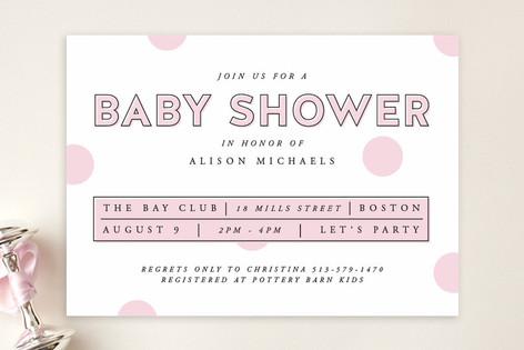 Polka Dot Confetti Baby Shower Invitations