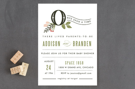 Once Upon A Time Baby Shower Invitations