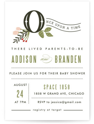 Once Upon A Time Baby Shower Invitations By Kampai Designs