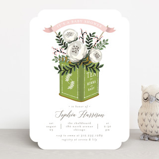 Tea Tin Baby Shower Invitations