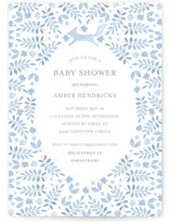 This is a blue baby shower invitation by Hallie Fischer called Foxy Baby Shower with standard printing on signature in standard.