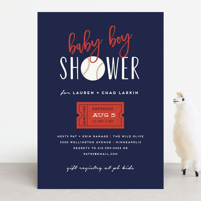 Baseball Baby Shower Invitations By