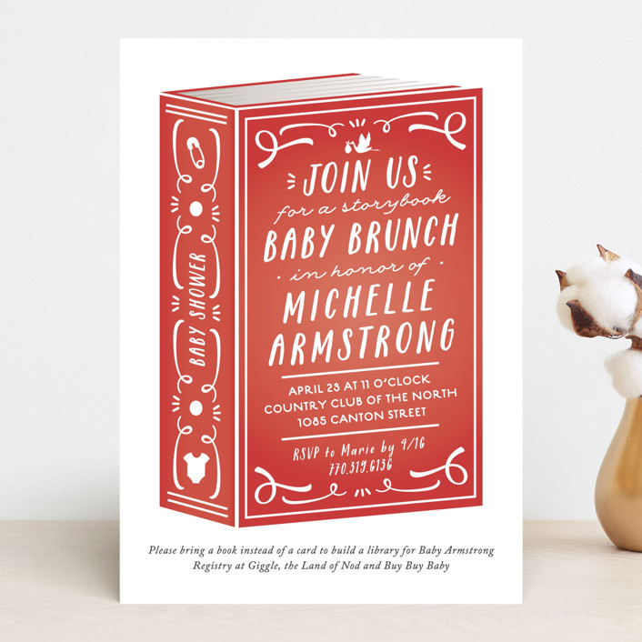 """Storybook Shower"" - Baby Shower Invitations in Mint by Jennifer Postorino."